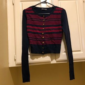 Forever 21 Button Up Crop Top Sweater Size M